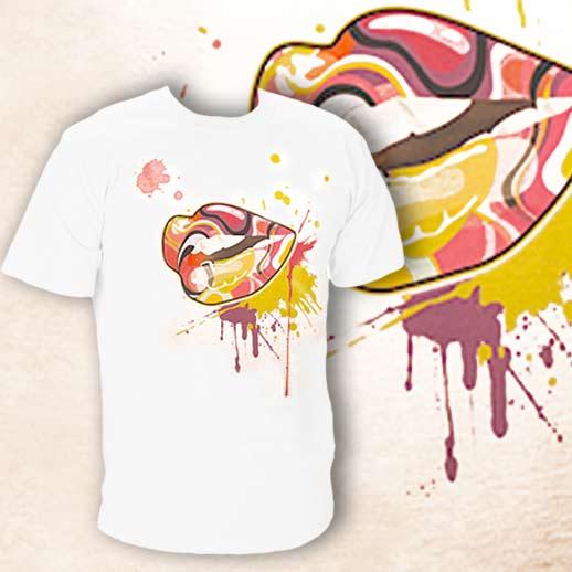 Pánske tričko s pestrým motívom