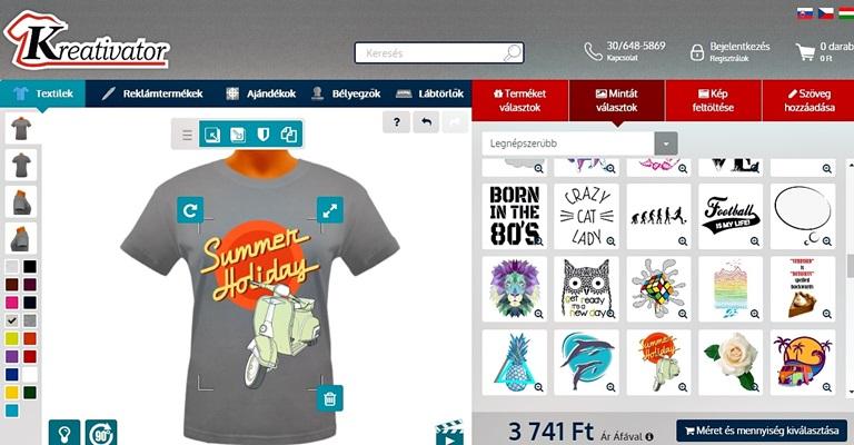 Saját mintás póló készítés Kreativator