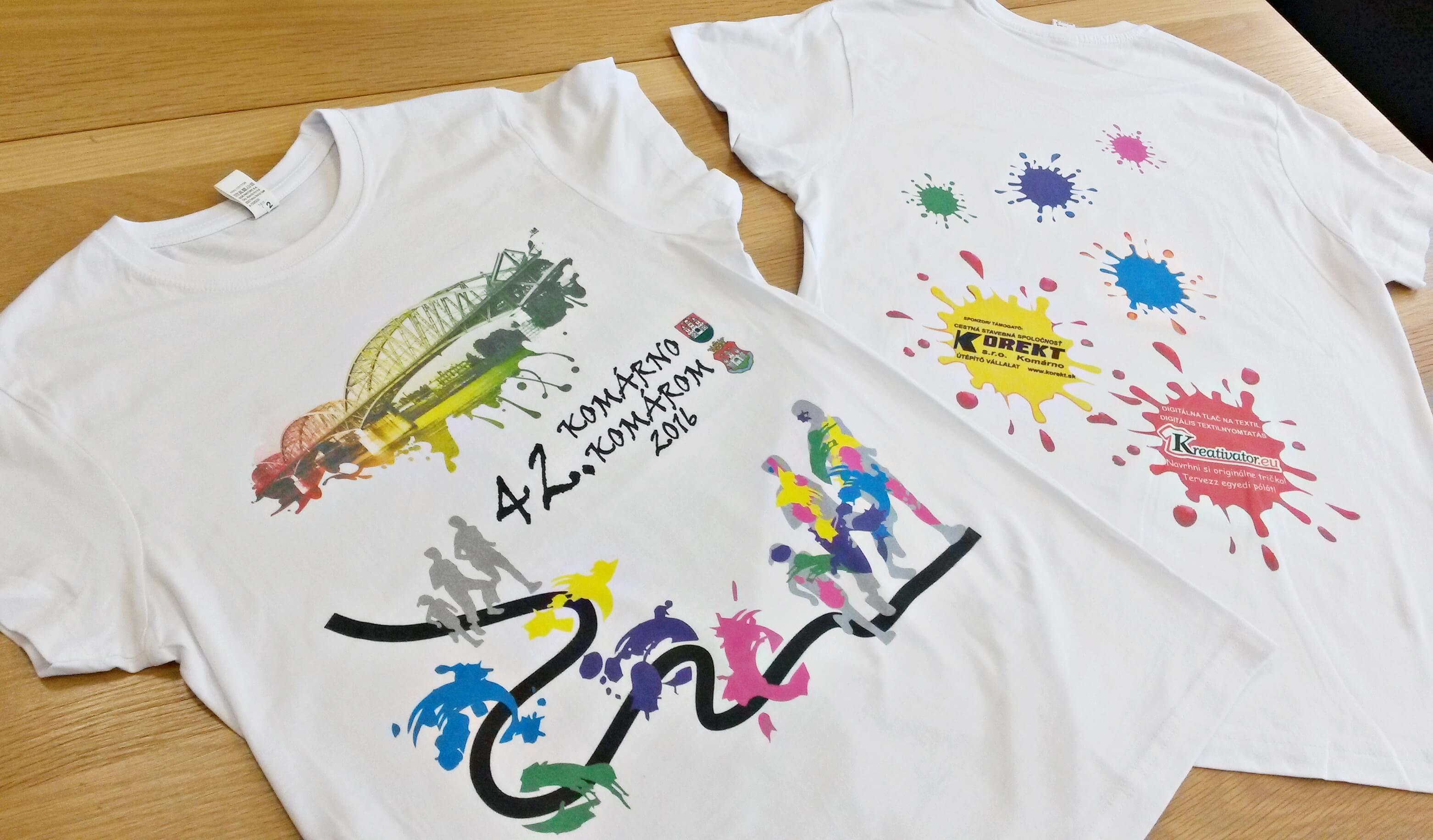 Komáromi napok futóverseny 2016 szponzor pólók