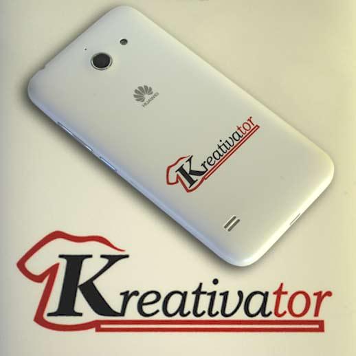 Telefon potlačený logom Kreativator