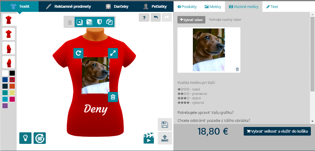 Online návrh tričiek