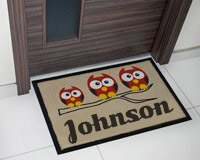 Entrance doormat by the size